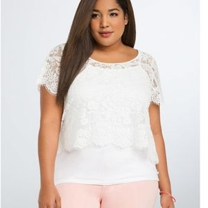 Torrid Lace Crop Top